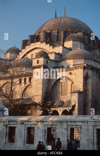 Turkey Istanbul Sulemaniye Mosque built 1557 built for Suleyman the Magnificent - Stock Image