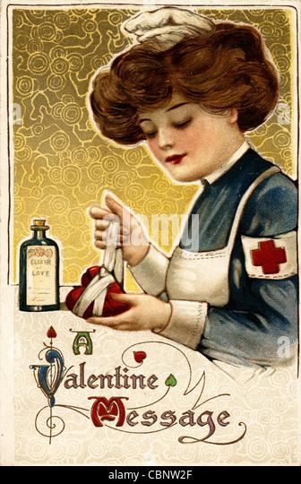 Valentine Mending a Broken Heart - Stock-Bilder