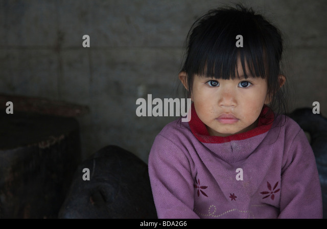 Young native girl Banaue Ifugao Province Northern Luzon Philippines - Stock Image