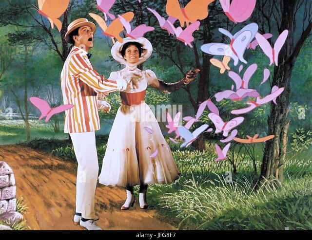 DICK VAN DYKE & JULIE ANDREWS MARY POPPINS (1964) - Stock Image