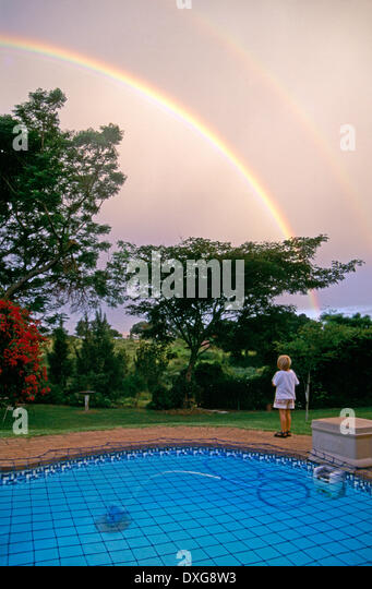 Swimming Rainbow Pool : Camperdown stock photos images alamy