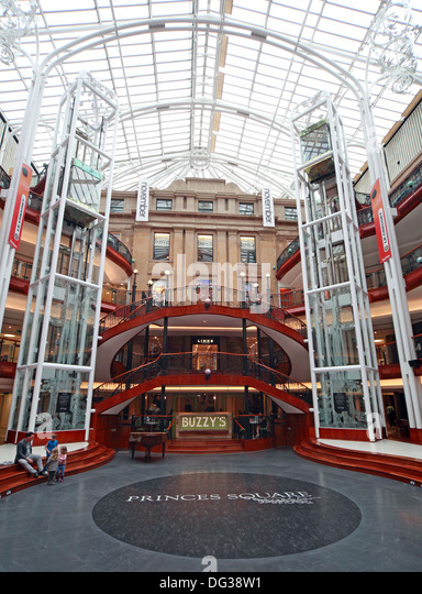 Buzzys Princes Square Shopping Centre Interior Glasgow City Centre Strathclyde Scotland UK - Stock Image