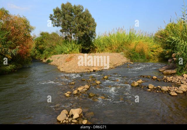 Jordan river Park, Galilee, Israel - Stock Image
