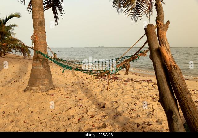 Hammock-Carabane-Senegal - Stock Image