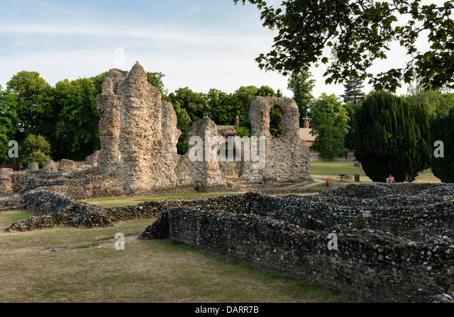 Bury St Edmunds Abbey Ruins - Stock Image