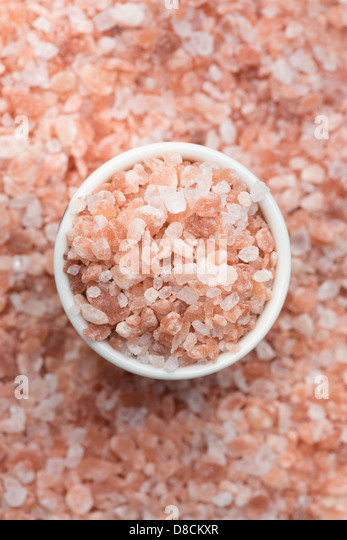 Asia Backgrounds Close-up Colour Image Crystal Elevated View Ferrous Sulphate Food Dressing Himalayas Mineral No - Stock Image