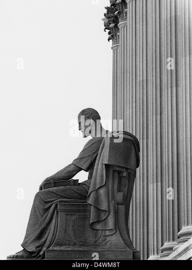 Photograph of the Archives Statue 'The Past', 1970 - Stock Image