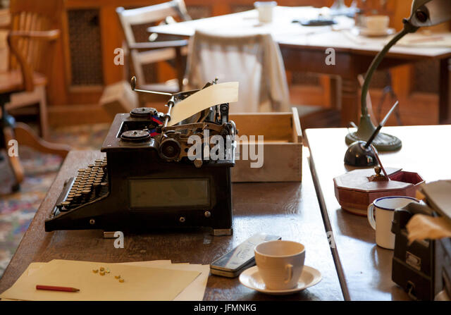 Interior office set up in the manor house at Bletchley Park, Buckinghamshire - Stock Image