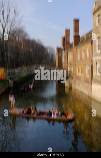 Impressionist image of Cambridge Gondola - Stock Image