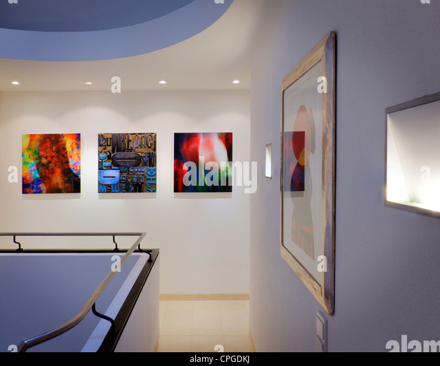 ARCHITECTURE:  Contemporary Gallery Display  (Germany/Bad Toelz) - Stock Image