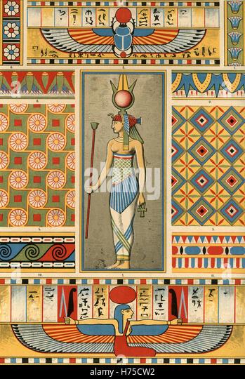 Ornamentenschatz 1887 Painting and sculpture: Egypt - Stock Image