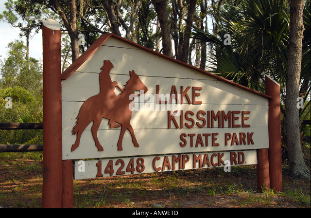 Florida Kissimmee State Park  entrance sign - Stock Image