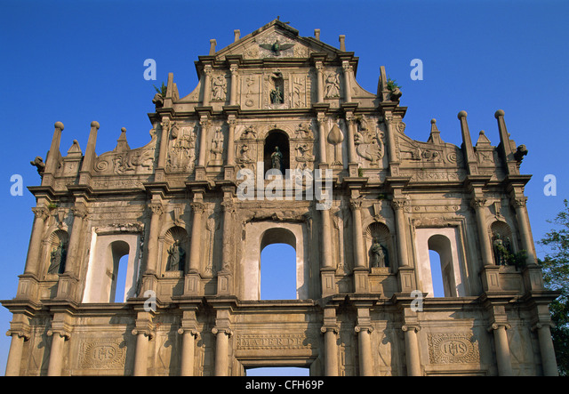 China, Macau, Ruins of St.Paul's Church - Stock Image