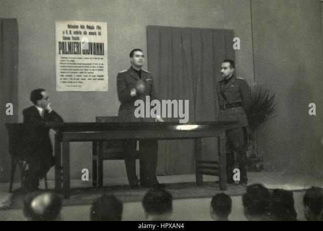 Fascist political meeting, Italy - Stock Image