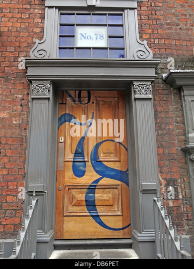 SeventyEight 78 A doorway in Seel St Liverpool - Stock Image