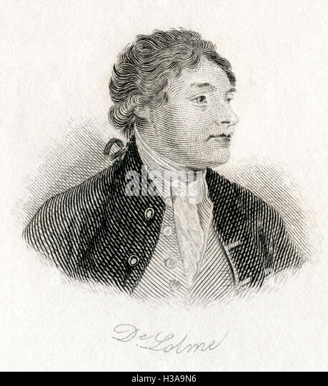 Jean-Louis de Lolme or Delolme, 1740 –  1806.  Swiss and English political theorist and writer on constitutional - Stock Image
