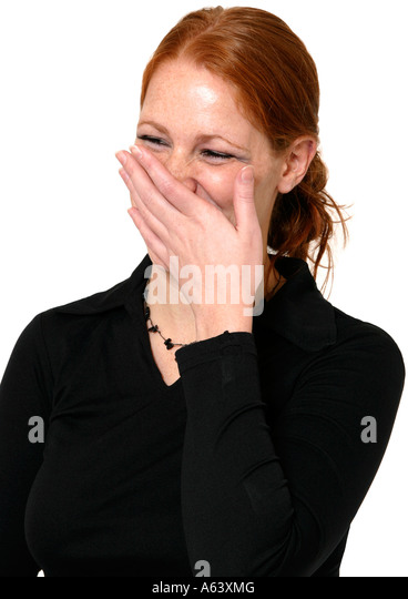 woman laughing - Stock Image