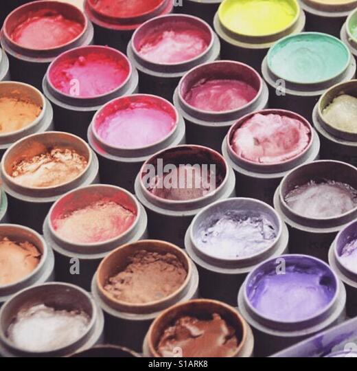 Make up artists palette - Stock-Bilder