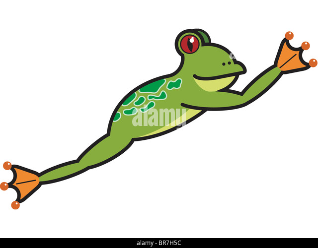 Frog Leap Illustration Stock Photos & Frog Leap ...