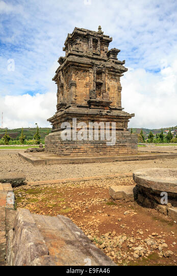 Arjuna complex temple Indonesia - Stock Image