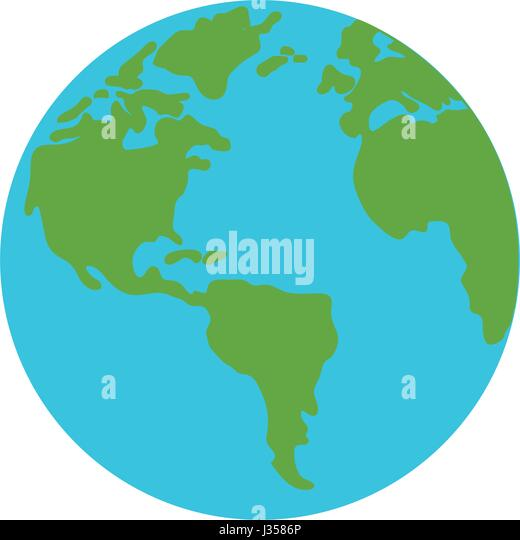Earth world symbol - Stock Image