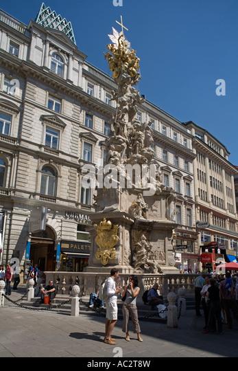 Vienna pest column - Stock Image