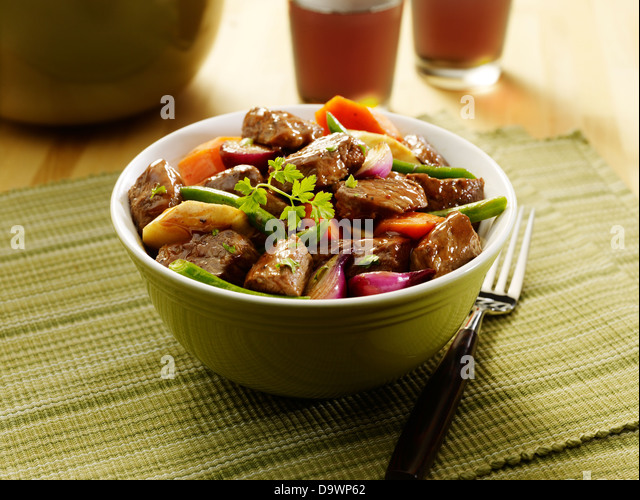 beef chuck stew in scene - Stock Image