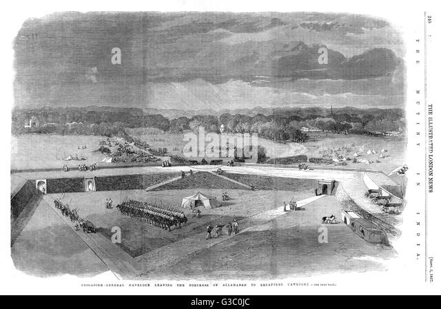 A page from The Illustrated London News, 5th September 1857.      Date: 1857 - Stock Image