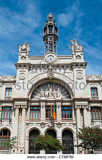 Spanish post office stock photos spanish post office stock images alamy - Oficina central de correos barcelona ...