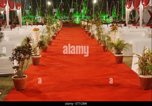 Red carpet Guna Madhya Pradesh India Asia - Stock Image
