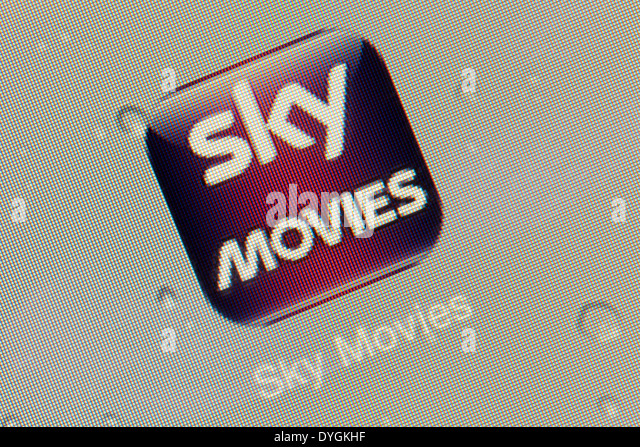 Sky Movies app logo icon on an iPad - Stock Image