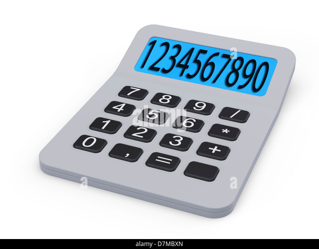 Calculator, artwork - Stock Image