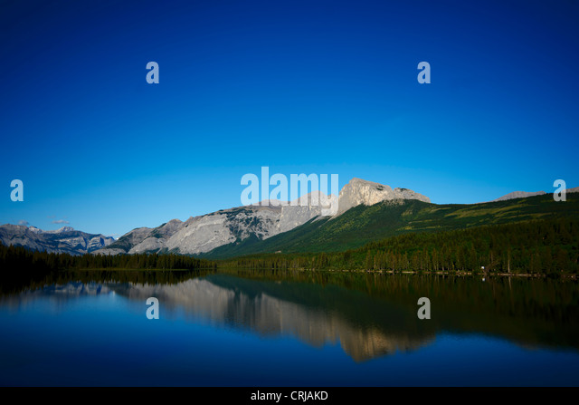 mountain landscape in Kananaskis Country, Alberta, Canada - Stock Image