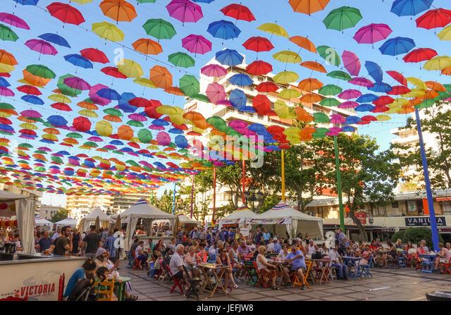 food Festival of different cultures, Torremolinos, Andalusia, Spain. - Stock-Bilder