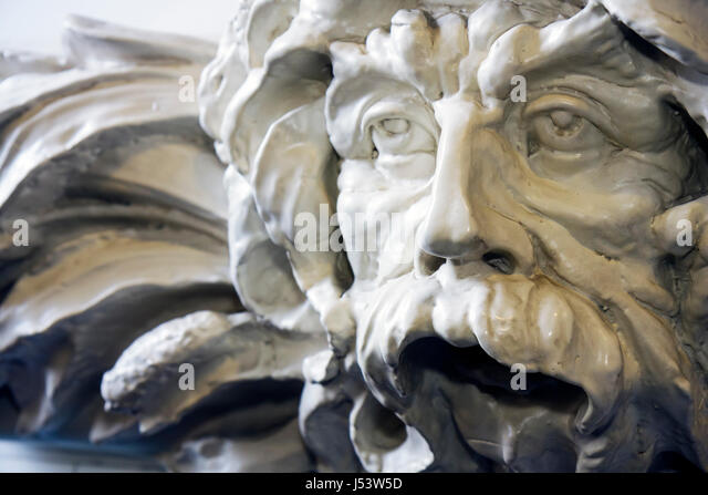 Arkansas Hot Springs Hot Springs National Park Bathhouse Row Fordyce Bath House Visitor Center marble sculpture - Stock Image