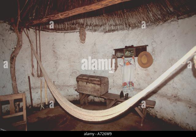 Dzibilchaltun Mexico maya mayan  home interior tourist attraction - Stock Image