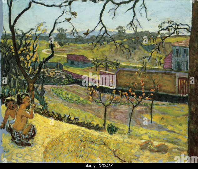 Early Spring, Little Fauns - by Pierre Bonnard, 1909 - Stock Image