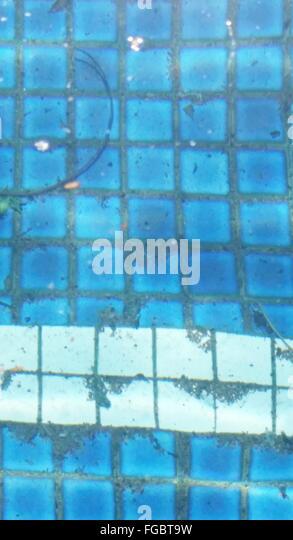 Full Frame Shot Of Tiled Floor Seen Through Water - Stock-Bilder