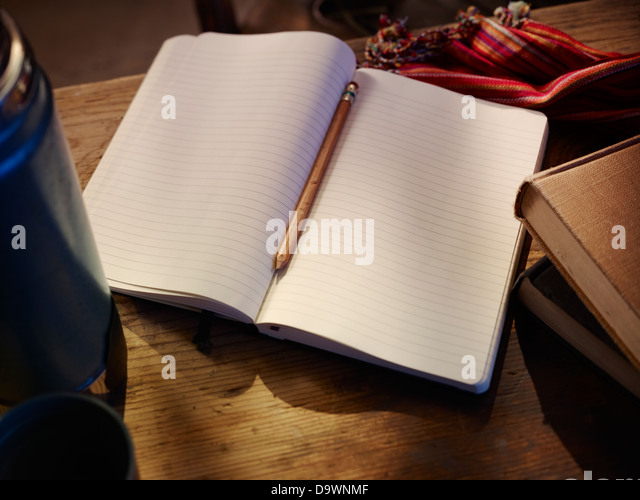 open notebook - Stock Image