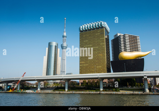 Modern architecture in the Asakusa, Tokyo, Japan, Asia - Stock Image