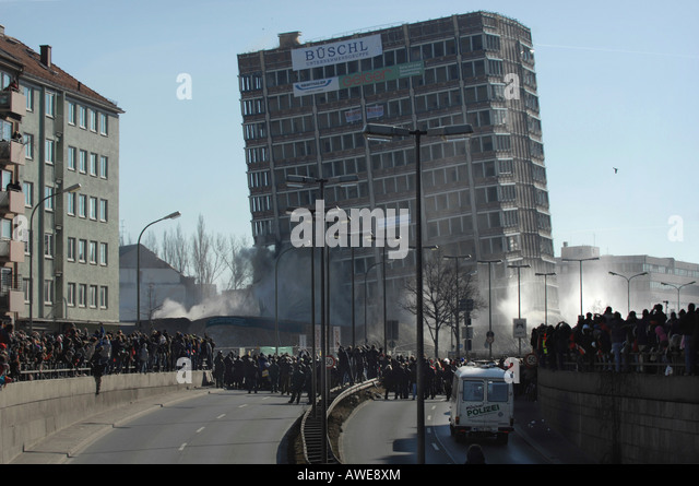 Building Blowing Up : Schraeger stock photos images alamy