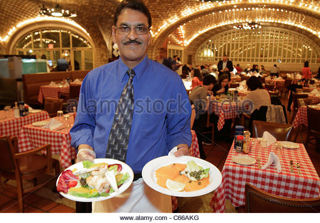 Manhattan New York City NYC NY Midtown 42nd Street Grand Central Station train terminal Grand Central Oyster Bar - Stock Image