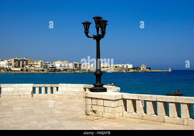 The seafront of Otranto. Apulia, Italy - Stock Image