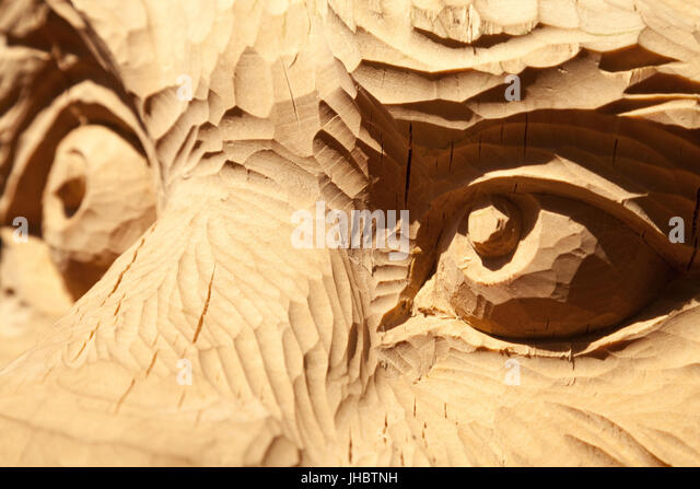 Wood carving animal stock photos