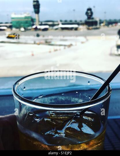 Whiskey at the Lounge - Stock Image