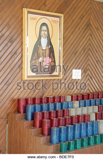 Michigan Indian River National Shrine of the Cross in the Woods religion Catholic church Christianity picture Saint - Stock Image