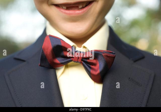 LOS ANGELES, CA – NOVEMBER 11: Boy with a bow tie in Los Angeles, California on November 11, 2007. - Stock Image