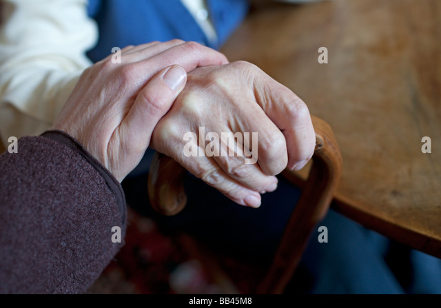 Senior and daughter - Stock-Bilder