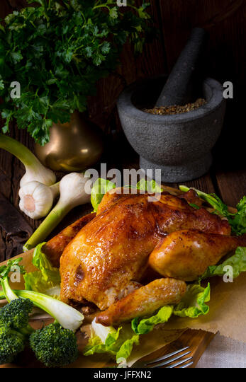 grilled chicken - Stock Image