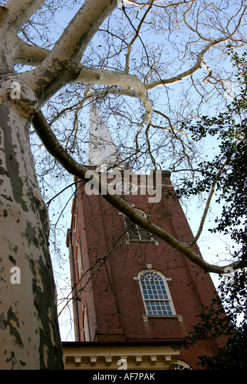 St Peters Episcopal Church of Philadelphia Pennsylvania United States Historical landmark - Stock Image